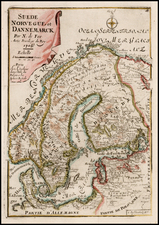 Scandinavia Map By Nicolas de Fer