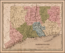New England and Connecticut Map By Thomas Gamaliel Bradford