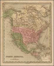 United States, Texas and North America Map By Thomas Gamaliel Bradford