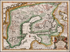 Baltic Countries, Scandinavia and Sweden Map By Pieter van der Aa