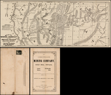 Southwest, Nevada, Rocky Mountains and California Map By E. W. Perry