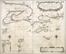 Caribbean & Central America Map By Arent Roggeveen / Johannes Loots
