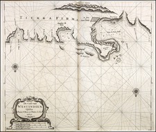 Central America and South America Map By Arent Roggeveen / Johannes Loots