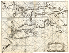Connecticut, New York City and New York State Map By Johannes Loots