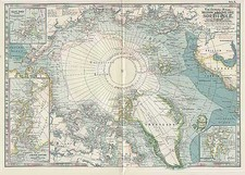 World and Polar Maps Map By The Century Company