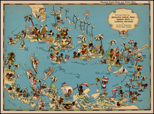 Caribbean and Central America Map By Ruth Taylor White