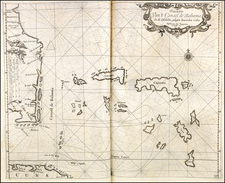 Florida, Southeast and Caribbean Map By Arent Roggeveen / Johannes Loots
