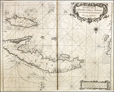 Cuba and Jamaica Map By Arent Roggeveen / Johannes Loots