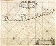 Cuba Map By Arent Roggeveen / Jacobus Robijn