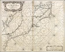 Southeast, North Carolina and South Carolina Map By Jacobus Robijn