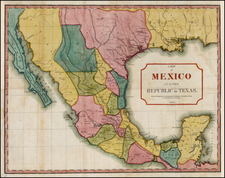 Texas, Plains, Southwest, Mexico and Baja California Map By J.M.  Niles  &  L.T. Pease