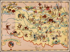 Plains and Oklahoma & Indian Territory Map By Ruth Taylor White