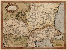 Romania and Balkans Map By Gerard Mercator