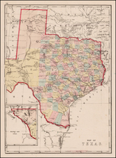 Texas Map By J. David Williams