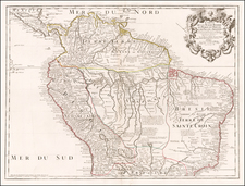 South America Map By Guillaume De L'Isle / Philippe Buache