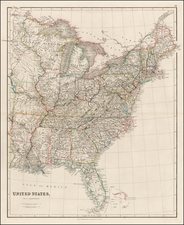 United States Map By John Arrowsmith