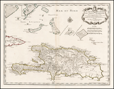 Caribbean and Hispaniola Map By Philippe Buache