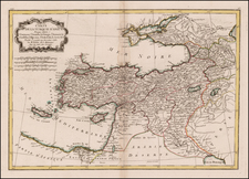 Central Asia & Caucasus, Middle East and Turkey & Asia Minor Map By Rigobert Bonne