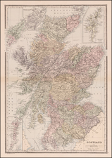 Scotland Map By William Bradley