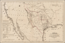 Texas, Southwest, Rocky Mountains and California Map By William Hemsley Emory