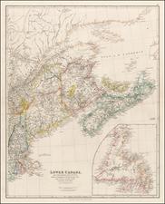 New England and Canada Map By John Arrowsmith