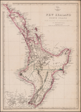 New Zealand Map By John Dower