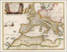 Europe, Europe, Italy and Mediterranean Map By Joan Jacobum de Rubeis / Michel-Antoine Baudrand