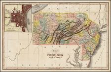 Mid-Atlantic Map By Hinton, Simpkin & Marshall
