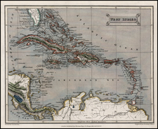 Caribbean Map By Thomas Tegg