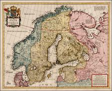Baltic Countries and Scandinavia Map By Hugo Allard