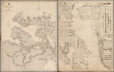 Polar Maps and Canada Map By British Admiralty