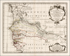 West Africa Map By Guillaume De L'Isle / Philippe Buache
