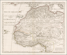North Africa and West Africa Map By Philippe Buache