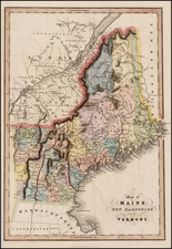 New England Map By Hinton, Simpkin & Marshall