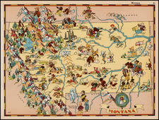 Plains and Rocky Mountains Map By Ruth Taylor White