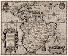 Caribbean, Central America and South America Map By Theodor De Bry
