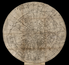 World, World, Northern Hemisphere, Polar Maps, North America, South America and America Map By Jodocus Hondius / William Rogers