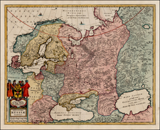 Europe, Russia, Baltic Countries and Scandinavia Map By Hugo Allard
