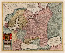 Europe, Russia, Baltic Countries and Scandinavia Map By Hugo Allard