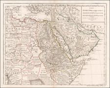 Middle East, Turkey & Asia Minor, North Africa and East Africa Map By Philippe Buache