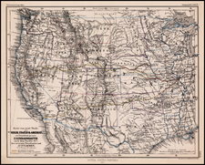 United States, Texas, Plains, Southwest, Rocky Mountains and California Map By Augustus Herman Petermann