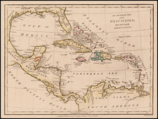 Florida, South, Caribbean and Central America Map By Robert Wilkinson