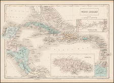 Caribbean Map By Adam & Charles Black