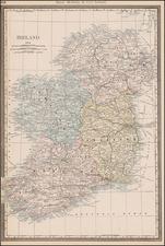 Ireland Map By William Rand  &  Andrew McNally