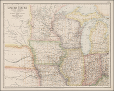 Midwest and Plains Map By Archibald Fullarton & Co.