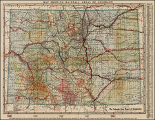 Southwest and Rocky Mountains Map By George Clason