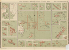 Hawaii, Southeast Asia, Other Islands, Australia & Oceania, Pacific, Australia, Oceania, New Zealand, Hawaii and Other Pacific Islands Map By Journal Les Missions Catholiques