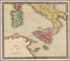 Italy and Balearic Islands Map By Jeremiah Greenleaf