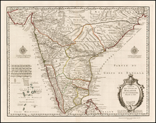 India Map By Philippe Buache / Guillaume De L'Isle
