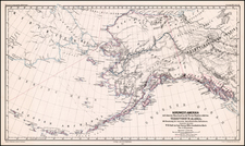 Alaska, Canada and Russia in Asia Map By Augustus Herman Petermann
